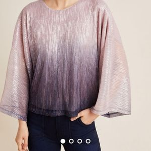 New! Serena Metallic Ombre Blouse by Anthropologie